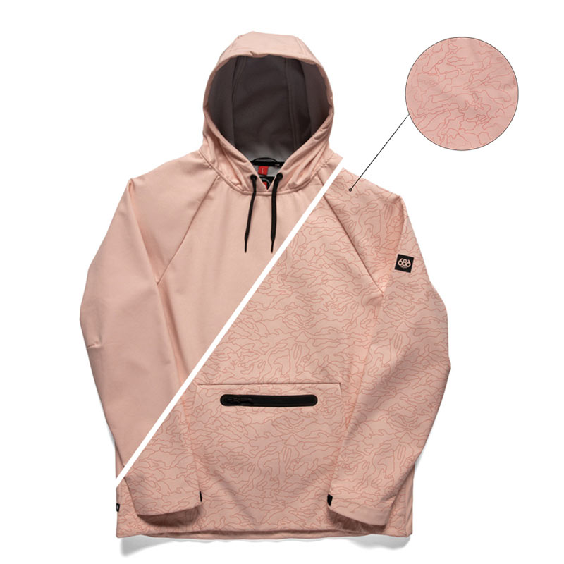 2021 686 HYPERCHROMIC WATERPROOF HOODY-DUSTY PINK HYPERCHROMIC (686 하이퍼크로믹 방수후드)