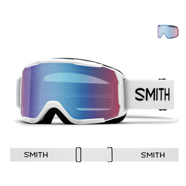 2021 SMITH DAREDEVIL WHITE-BLUE SENSOR MIRROR (스미스 데어데블 아동고글)