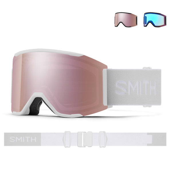 2021 SMITH SQUAD MAG WHITE VAPOR-EVERYDAY ROSE GOLD-STORM ROSE FLASH (스미스 스쿼드맥 고글-스페어렌즈포함)