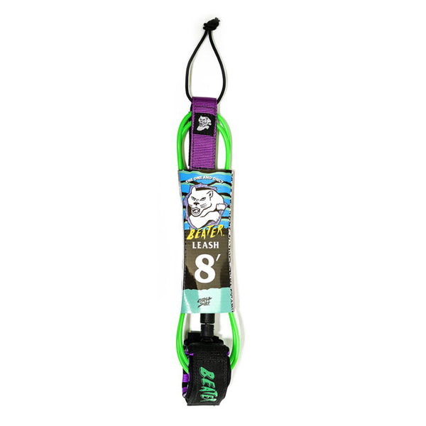 CATCH SURF/캐치서프 서핑리쉬 BEATER PRO COMP 8FT LEASH-GREEN/PUR