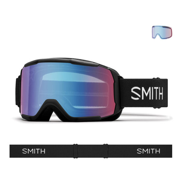 2021 SMITH DAREDEVIL BLACK-BLUE SENSOR MIRROR (스미스 데어데블 아동고글)
